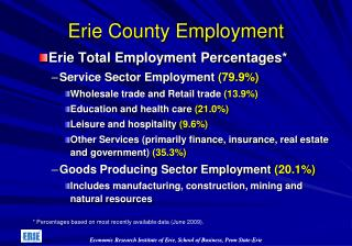 Erie County  Employment