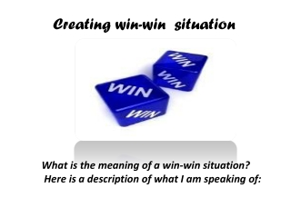Creating win - win  situation