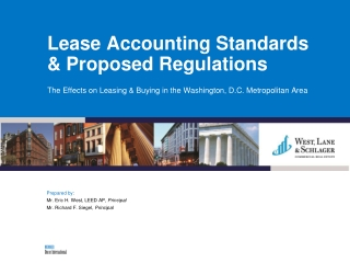 Lease Accounting Standards & Proposed Regulations