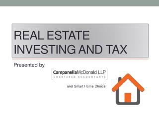 Real Estate Investing and Tax