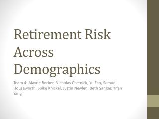 Retirement Risk Across Demographics