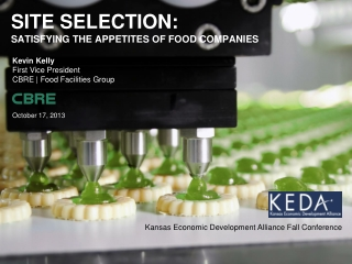 Site SELECTION: Satisfying The appetites of food companies