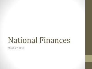 National Finances