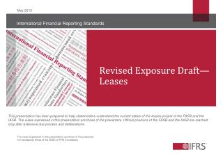 Revised Exposure Draft— Leases