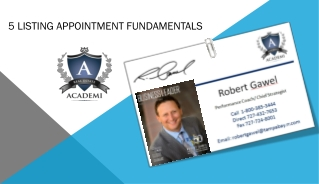 5 listing appointment fundamentals