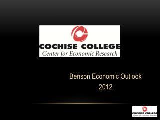 Benson Economic Outlook  2012