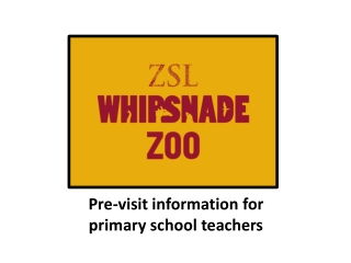 Pre-visit information for primary school teachers