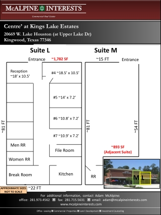 Centre' at Kings Lake Estates 20669 W. Lake Houston (at Upper Lake Dr) Kingwood, Texas 77346