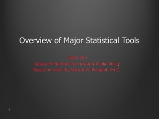 Overview of Major Statistical Tools