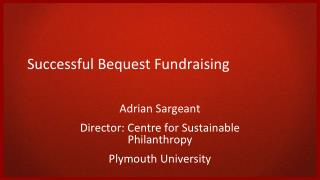 Successful Bequest Fundraising