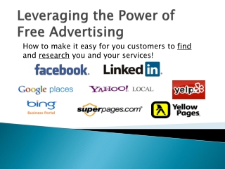 Leveraging the Power of Free Advertising