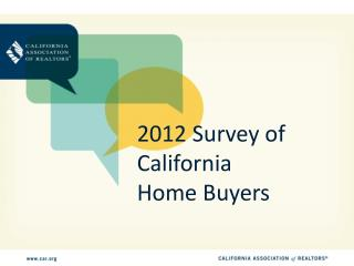 2012 Survey of California Home Buyers