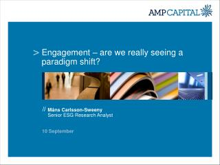 Engagement – are we really seeing a paradigm shift?
