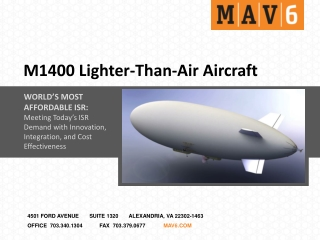 M1400 Lighter-Than-Air Aircraft