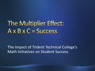 The Multiplier Effect: A x B x C = Success