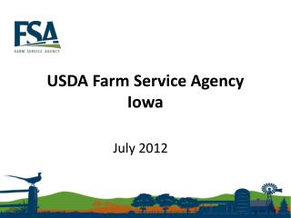 USDA Farm Service Agency Iowa