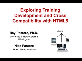 Exploring Training Development and Cross Compatibility with HTML5