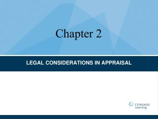 LEGAL CONSIDERATIONS IN APPRAISAL