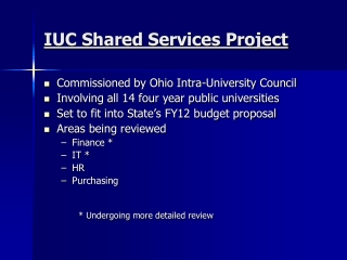 IUC Shared Services Project