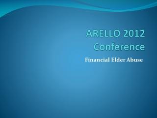 ARELLO 2012 Conference