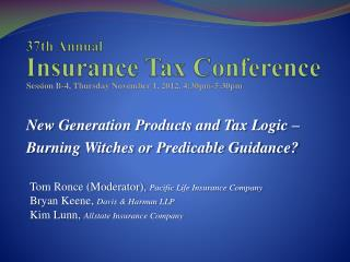 37th Annual  Insurance Tax Conference
