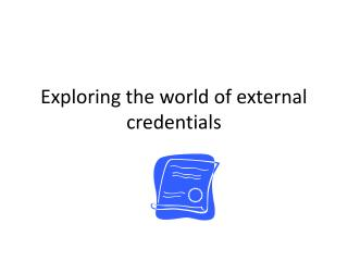 Exploring the world of external credentials