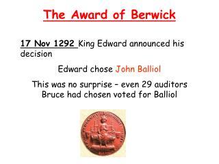 The Award of Berwick