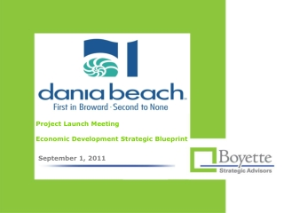 Project Launch Meeting Economic Development Strategic Blueprint