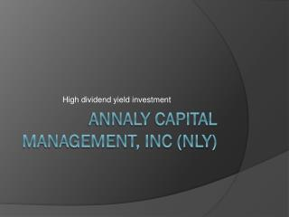 Annaly  Capital Management, INC (NLY)