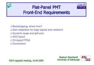 Flat-Panel  PMT Front-End Requirements