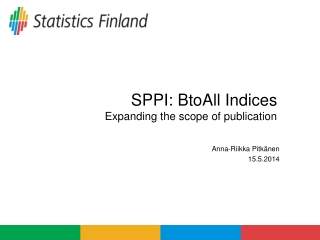 SPPI:  BtoAll  Indices  Expanding the scope of publication