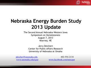 Nebraska Energy Burden Study 2013 Update