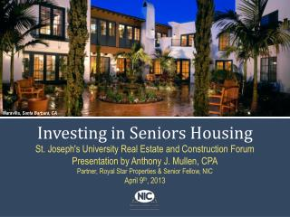 Investing in Seniors Housing