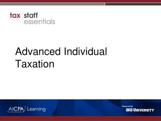 Advanced Individual Taxation