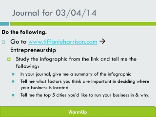 Journal for  03/04/14