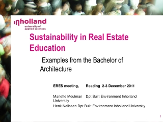 Sustainability in Real Estate Education