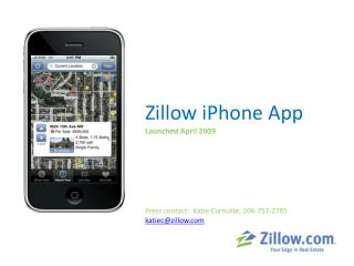 Zillow  iPhone  App