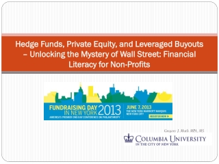 Hedge Funds, Private Equity, and Leveraged Buyouts – Unlocking the Mystery of Wall Street: Financial Literacy for  Non-