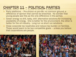 Chapter 11 – Political parties