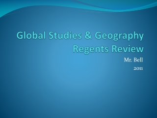Global Studies & Geography Regents Review