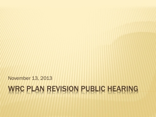 WRC plan revision Public hearing