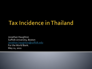 Tax Incidence in Thailand