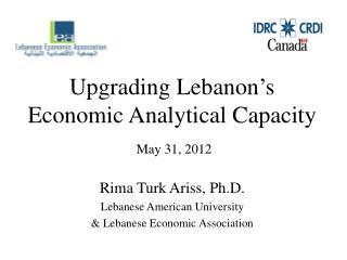 Upgrading Lebanon�s Economic Analytical  Capacity