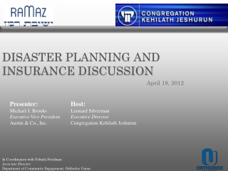 Disaster Planning and insurance discussion