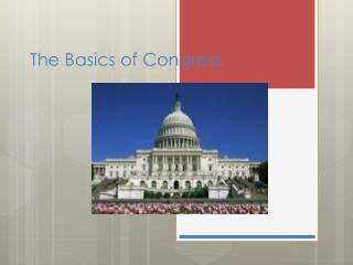 The Basics of Congress
