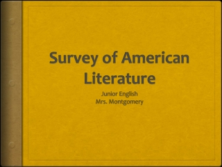 Survey of American Literature