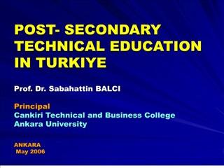 post- secondary technical education in turkiye   prof. dr. sabahattin balci  principal   cankiri technical and business