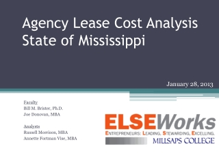 Agency Lease Cost Analysis State of Mississippi