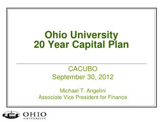Ohio University 20 Year Capital Plan