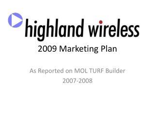 2009 Marketing Plan